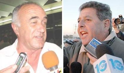 Juan Echeverría y Alfredo de Ángeli, dirigentes de FAA Entre Ríos