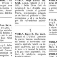 El diario La Nación publicó avisos fúnebres por Videla