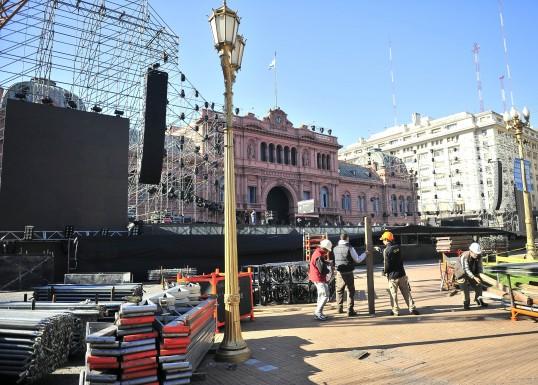 plaza mayo escenario
