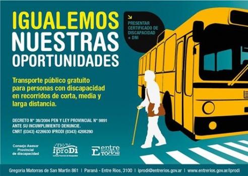 En La Paz, charla sobre discapacidad y el derecho altransporte