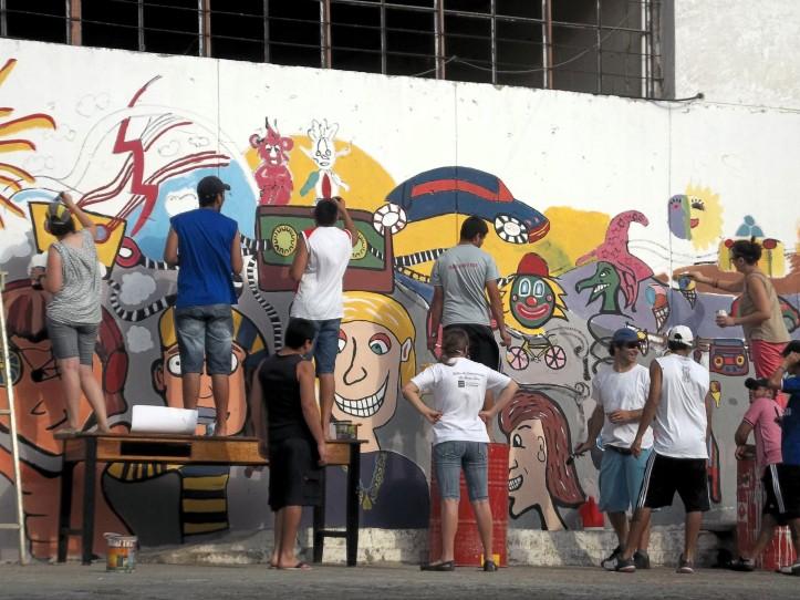 Foto mural cárcel chamuyo