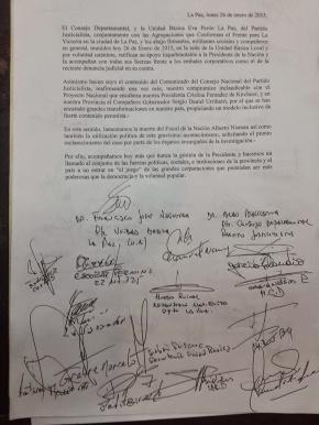 documento CFK nisman