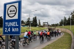 túnel ciclismo
