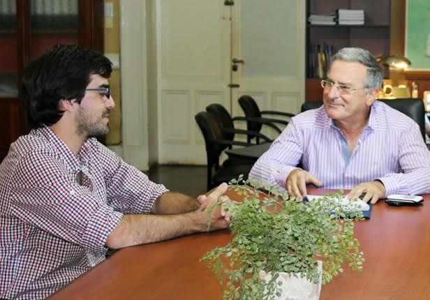 Sarubi y ministro Benedetto