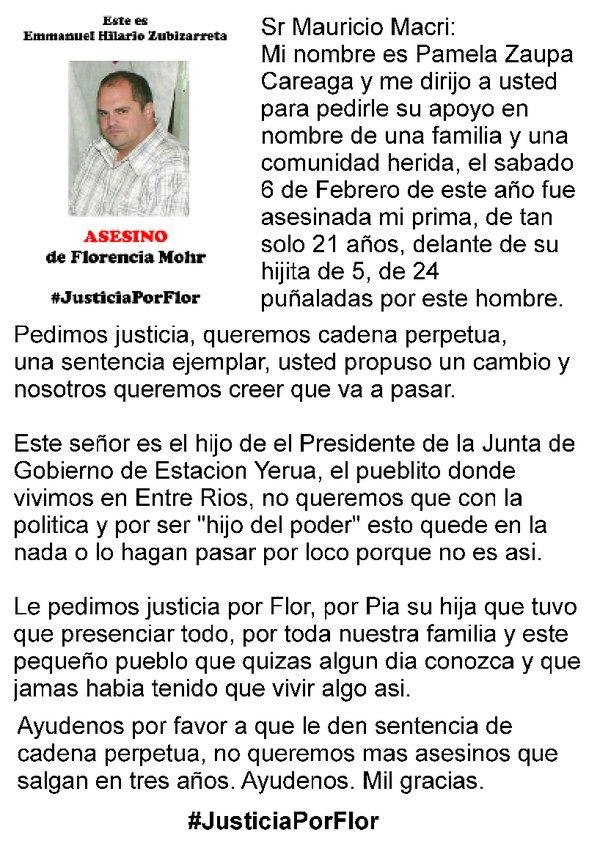 justicia por florencia puerto yeruá asesinato
