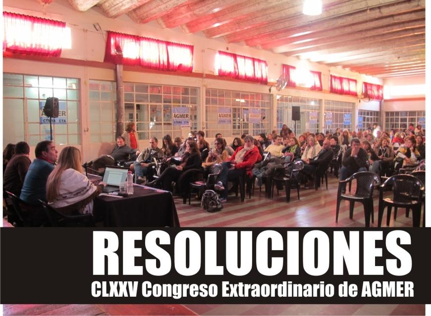 resoluciones completas del Congreso de AGMER