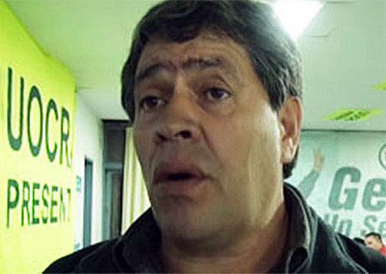 El Secretario General de la UOCRA en Entre Ríos, Walter Doronzoro,