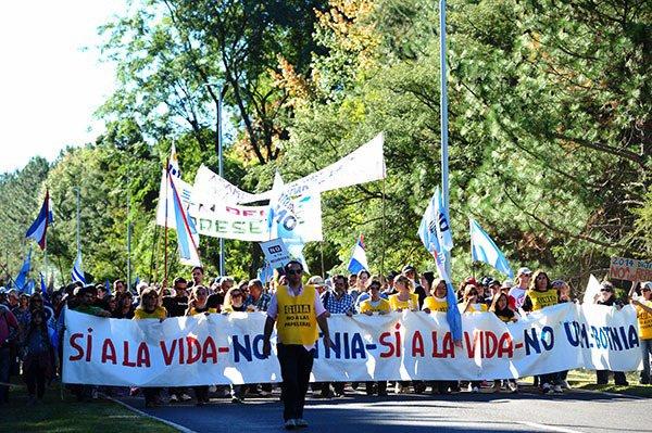 UPM Botnia: gran movilización ciudadana enGualeguaychú