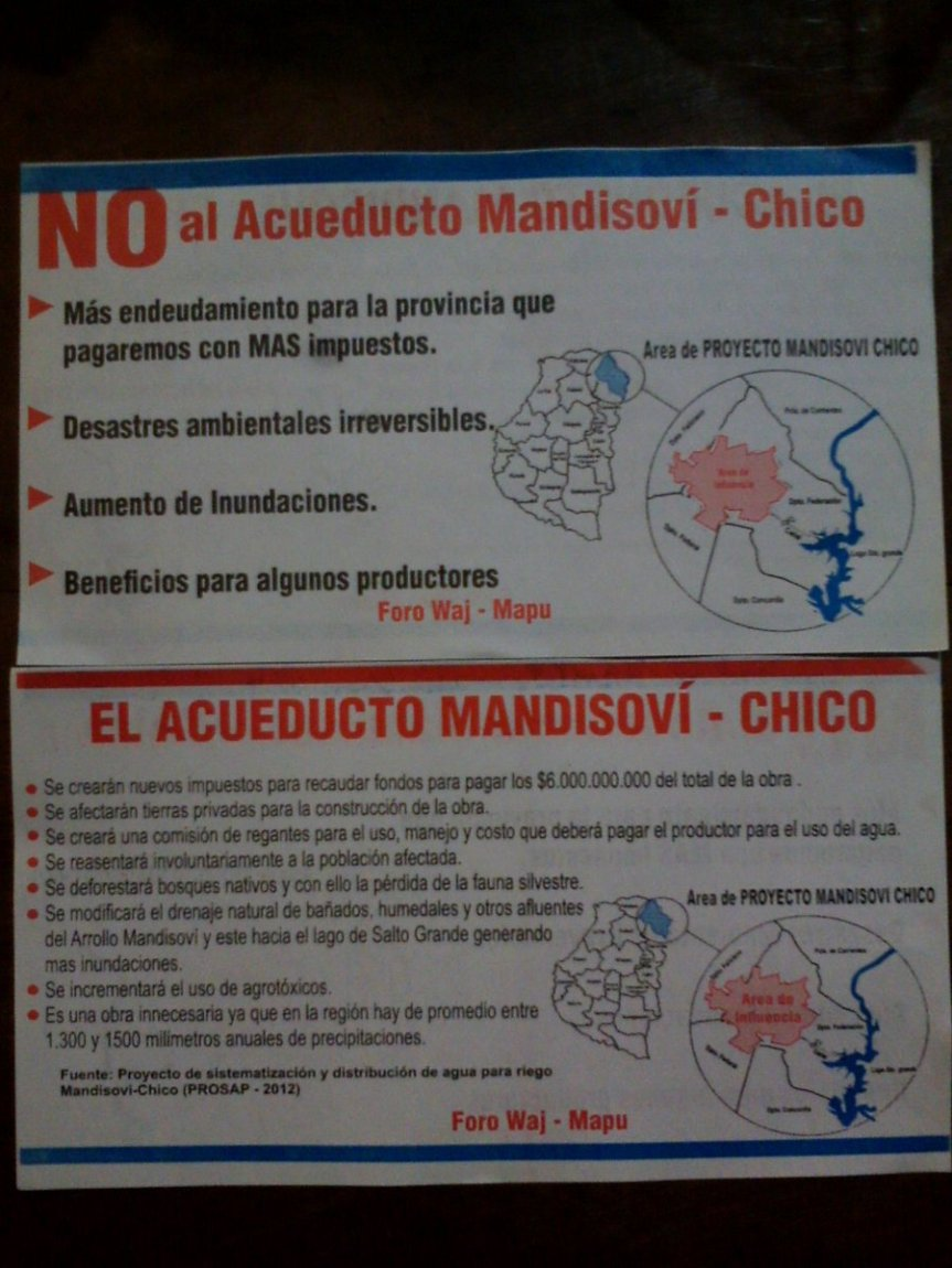 Rechazan el Acueducto MandisovíChico