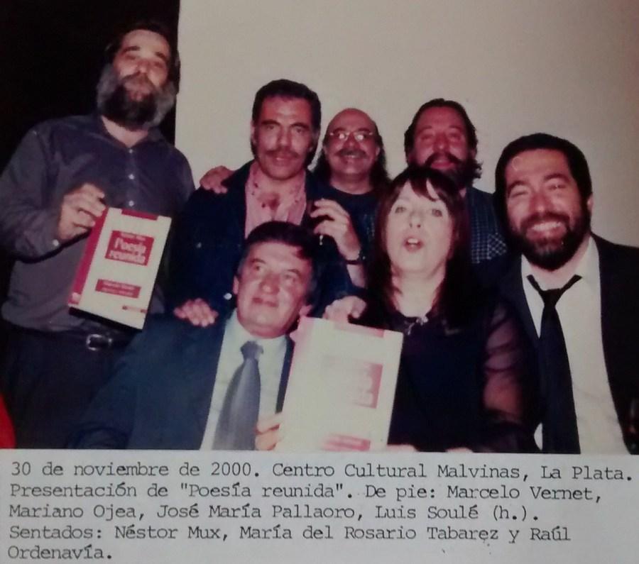 Marcelo Vernet con Mariano Ojea, José María Pallaoro, Luis Soulé (hijo), Néstor Mux, María del Rosario Tabarez y Raúl Ordenavía