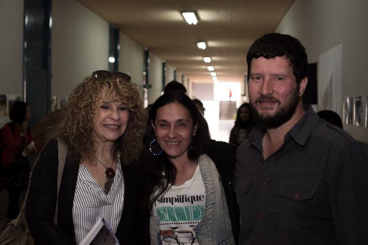 Alejandra Méndez Bujonok con Gioconda Belli y Luis Capeletti en 2017