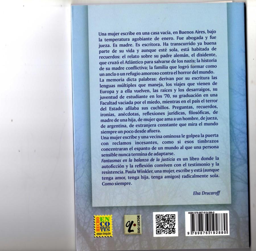 Libro Winkler 12 - Fantasmas en la balanza de la justicia - (contratapa)