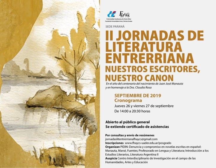 II Jornada Lit. Entrerriana - Flyer