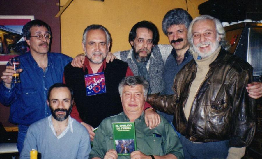 Rodolfo Álvarez con Rogelio Ramos Signes, Enrique Diego Gallego, Jorge Santiago Perednik, Hugo Diz, Alberto José Miyara y Eduardo D'Anna