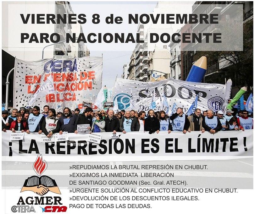 agmer represión