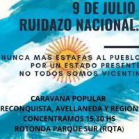 Vicentín: convocan a movilización para el 9 de julio