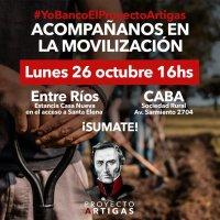 Movilización en apoyo al Proyecto Artigas